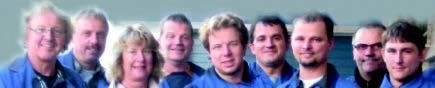 Bild der Mitarbeiter der Firma Dietrich von links Hans-Peter Dietrich, Thomas Dietrich, Gabriele Dietrich, Axel Wiegmann, Nils Dietrich, Ali Usa, Sebastian Labuhn, Andre Schulze, Fabian Klawik.